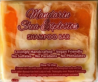 Shampoo Bar - Mandarin Shea Explosion - Vegan Friendly