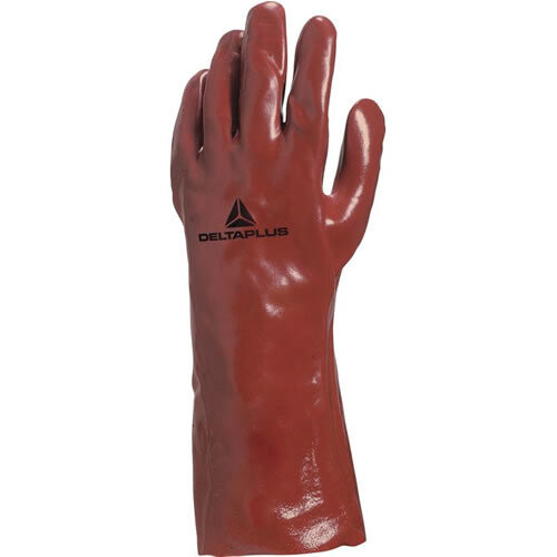 12 x Pairs of Delta Plus PVC7335 PVC Gauntlet Gloves 35cm Length 14""