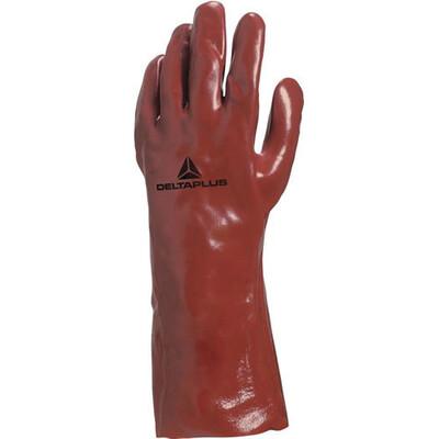 12 x Pairs of Delta Plus PVC7335 PVC Gauntlet Gloves 35cm Length 14