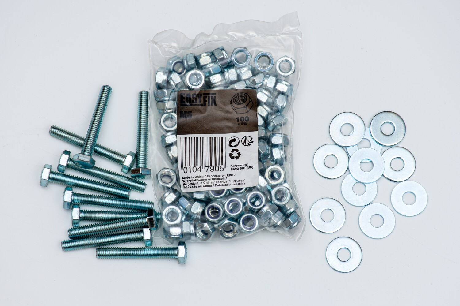 Replacement Nuts/ Bolts/ Washers and Split pins.