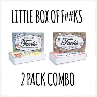 2-Pack 'Little Box of F##ks' Combo!
