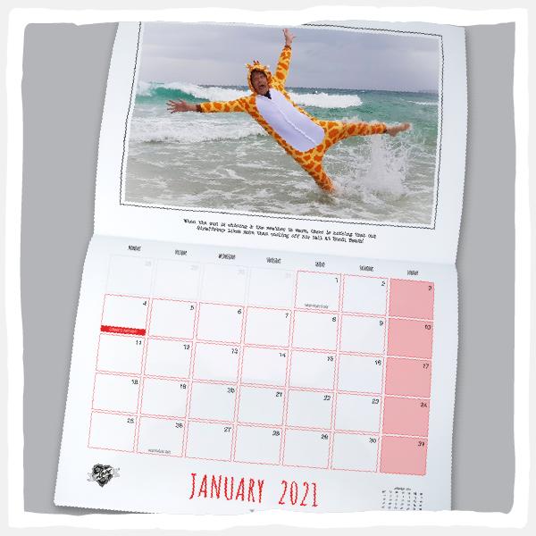 Slighty past Best Before Date - 2021 LYS Wall Calendar