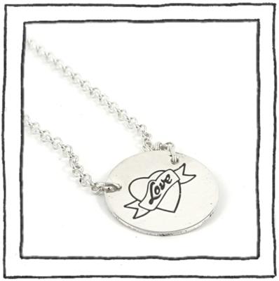 Necklace - Silver Logo