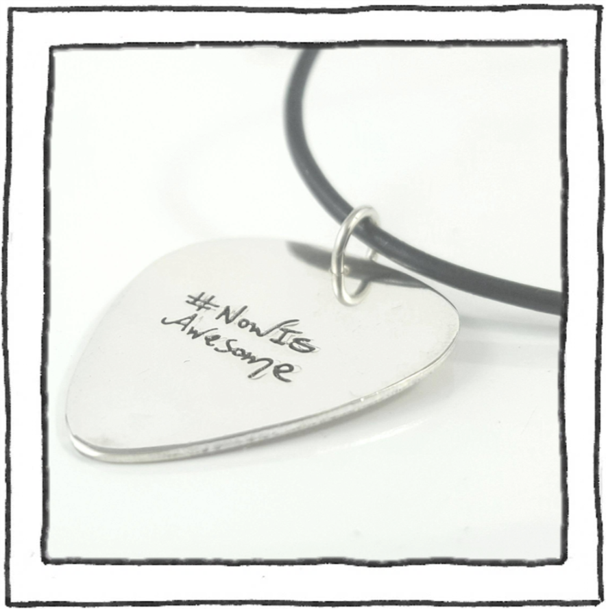 Necklace - Guitar Pick - #NowIsAwesome