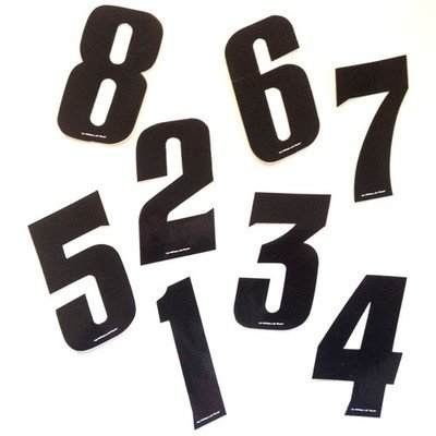 Tangent Plate Numbers Pro 10 cm Black
