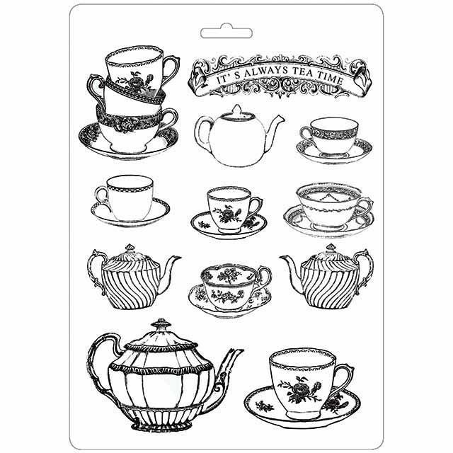 Stamperia Soft Maxi Moulds - Tea Time
