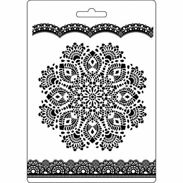 Stamperia - Soft Mould A5 - Doily Pattern