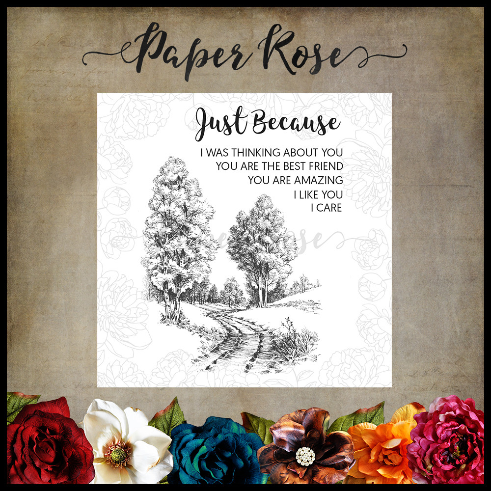 Paper Rose - Into the Woods Cling Rubber Stamp