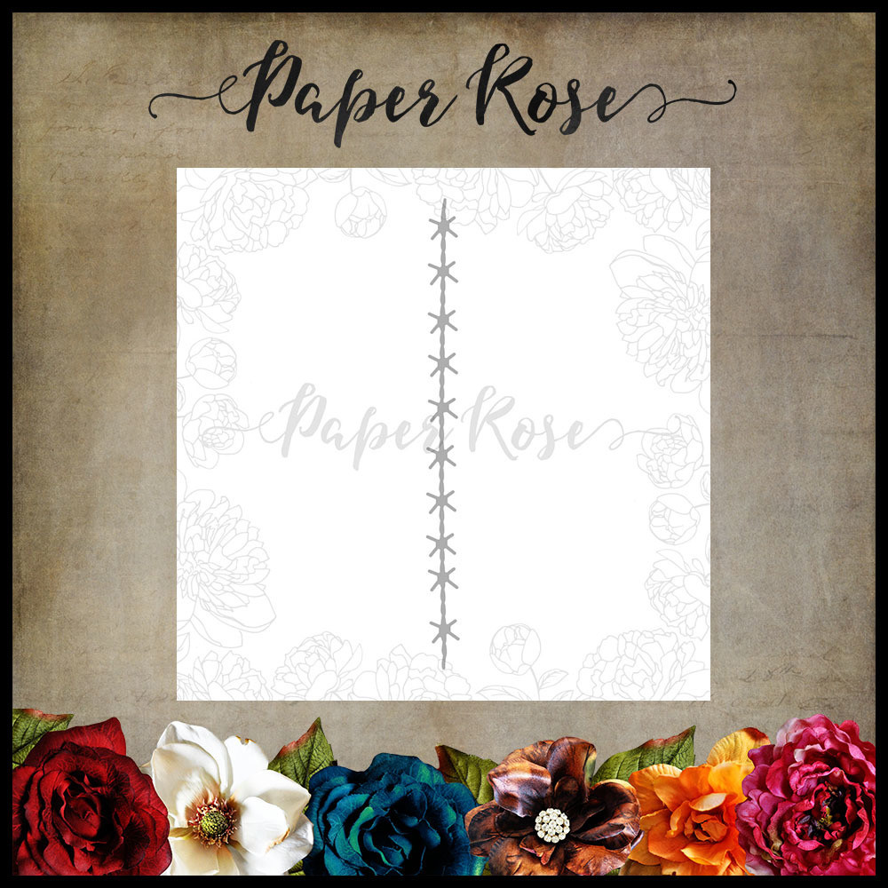 Paper Rose - Barbed Wire Metal Die