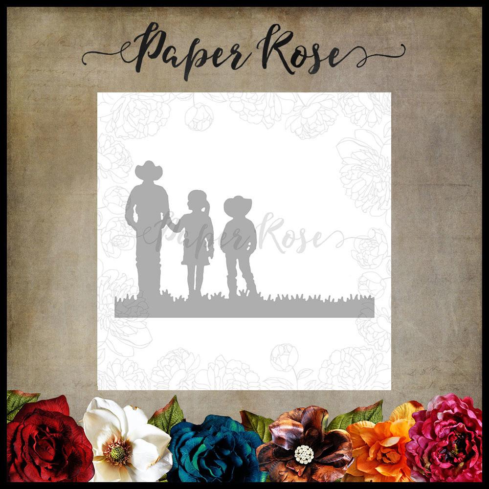 Paper Rose - Farmer with Children Metal Die