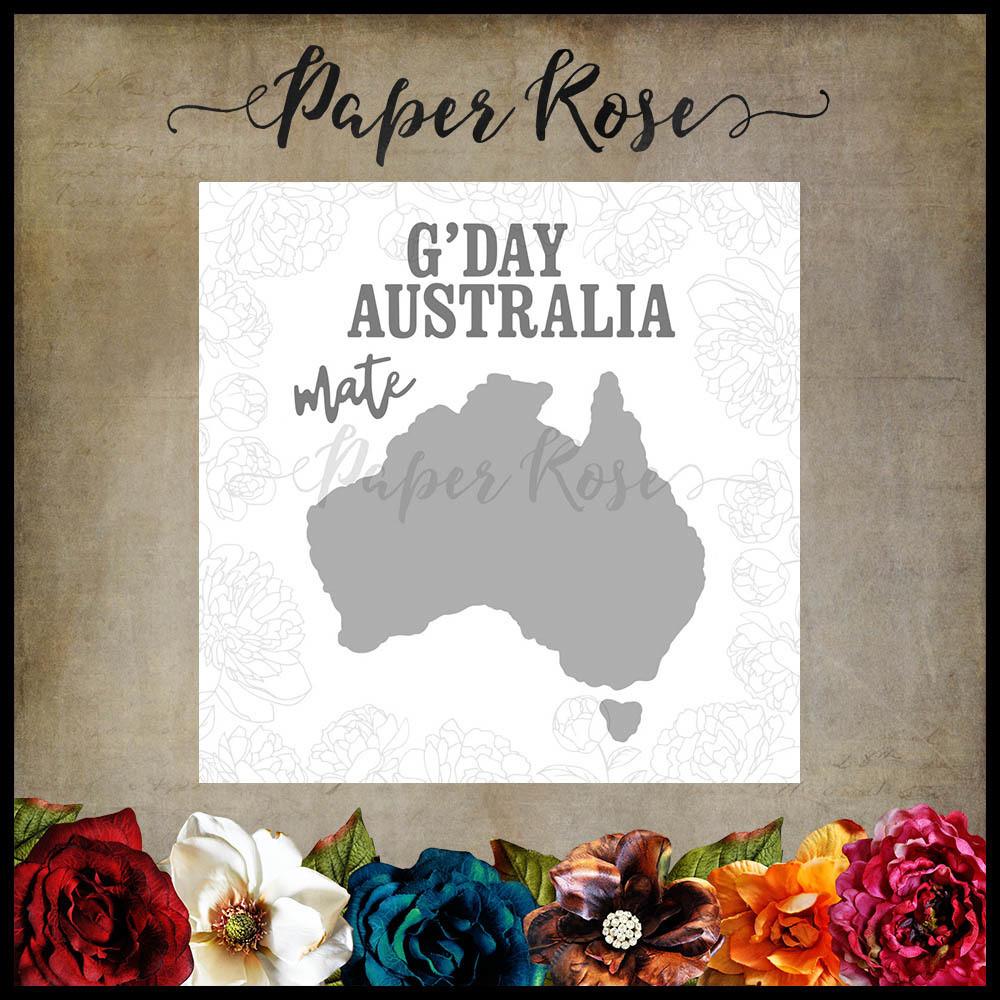 Paper Rose - Map of Australia Metal Die