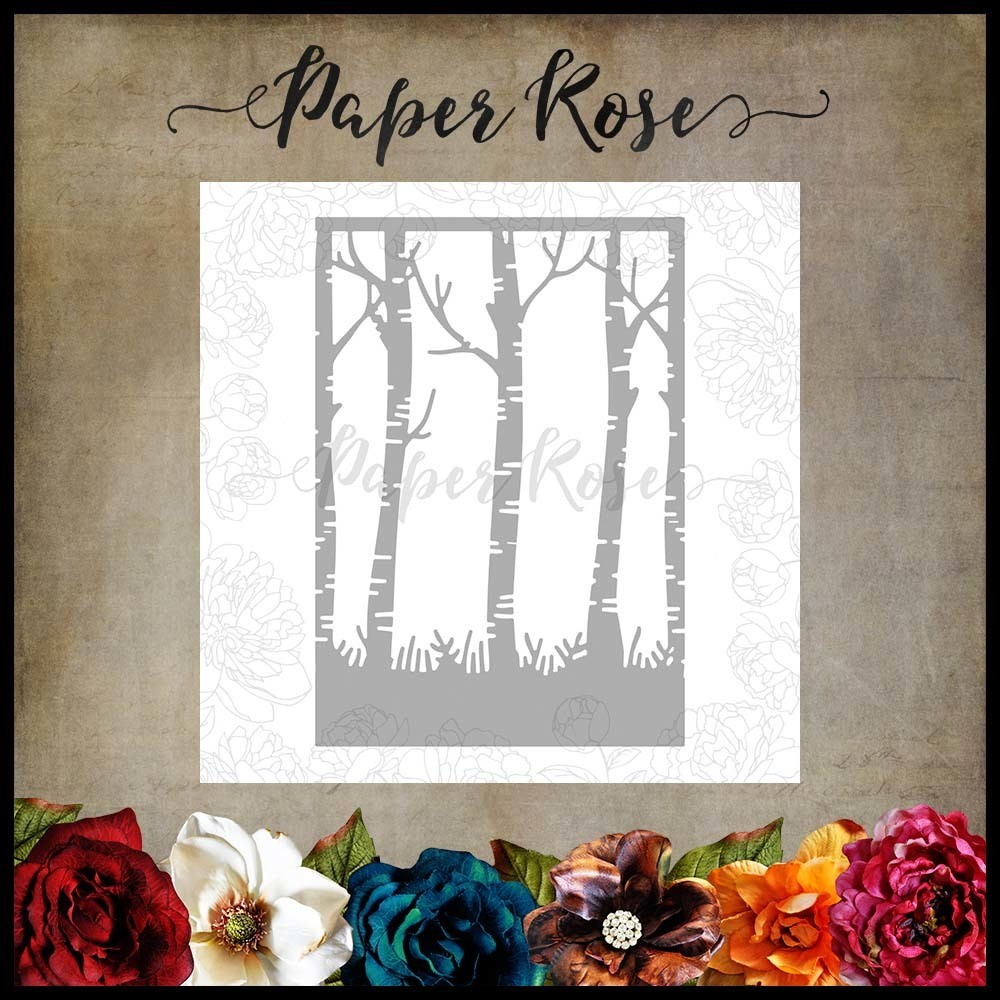 Paper Rose - Birch Trees Metal Die