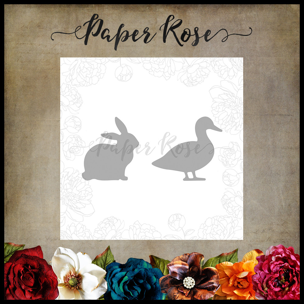 Paper Rose - Duck & Rabbit Metal Die