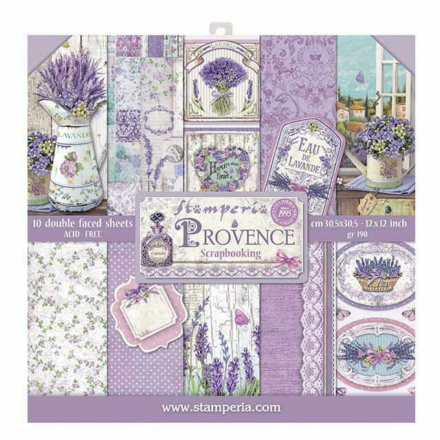 "Provence - Stamperia Double-sided Paper Pad 12""x12"""