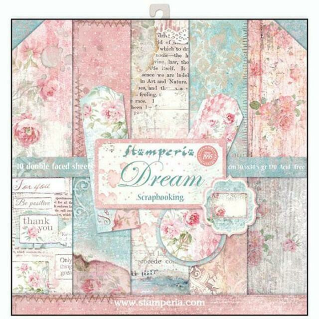 """Dream - Stamperia Double-sided Paper Pad 12""""x12"""""""