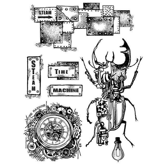 Time Machine Stamp Set - Mechanical Fantasy by Antonis Tzanidakis