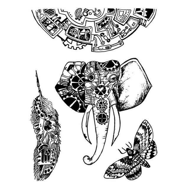 Mechanical Animals Stamp Set - Mechanical Fantasy by Antonis Tzanidakis