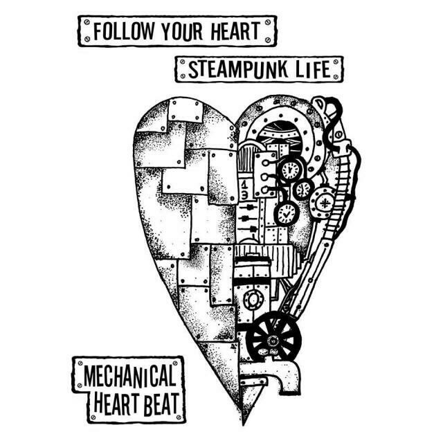 Mechanical Heart Stamp Set - Mechanical Fantasy by Antonis Tzanidakis