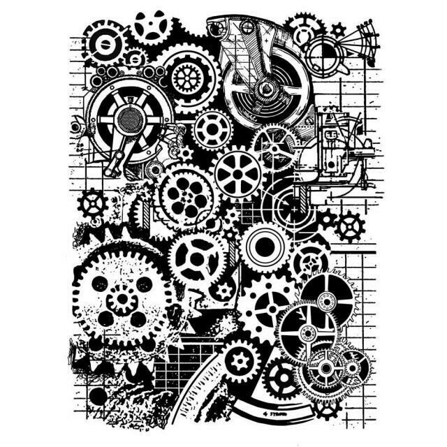 Mixed Media Gears Stamp Set - Mechanical Fantasy by Antonis Tzanidakis
