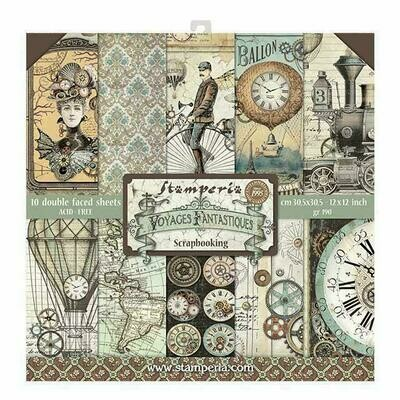 Voyages Fantastiques - Stamperia Double-sided Paper Pad 12