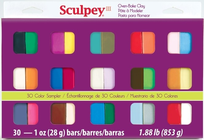 Sculpey® III Sampler Pack Polymer Clay – 30 pc