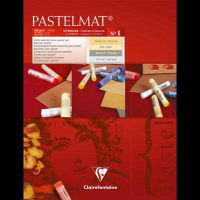 PASTELMAT 360g PASTEL PAPER PAD No.1 - 18x24cm