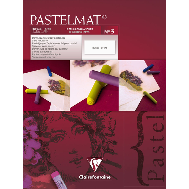 PASTELMAT 360g PASTEL PAPER PAD No.3 - 18x24cm