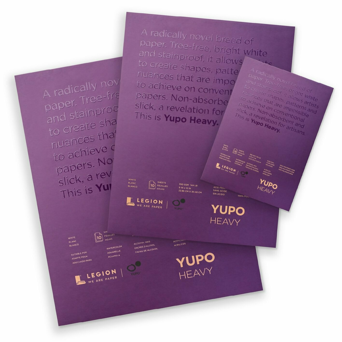 "YUPO® Ultra Heavy Synthetic Paper Pad - 5""x7"""