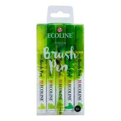 Ecoline Brush Pen Set of 5 - Green