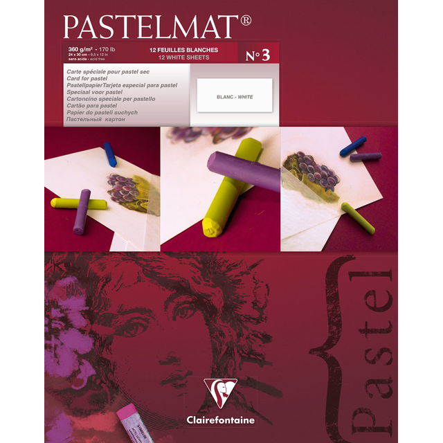 PASTELMAT 360g PASTEL PAPER PAD No.3 - 24x30cm