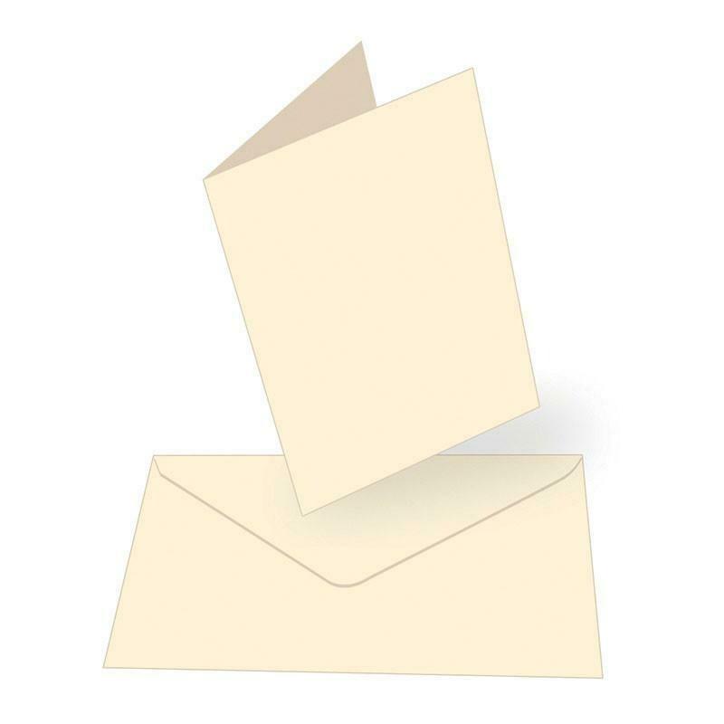 A6 Card + envelope set - Cream (50 pack)
