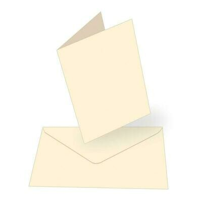 A6 Card + envelope set - Cream (50 pack)