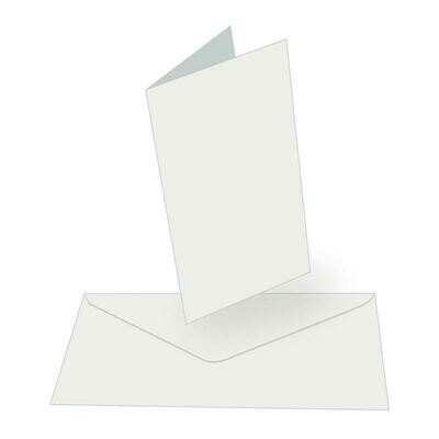 Tall (DL) Card + envelope set - White (50 pack)