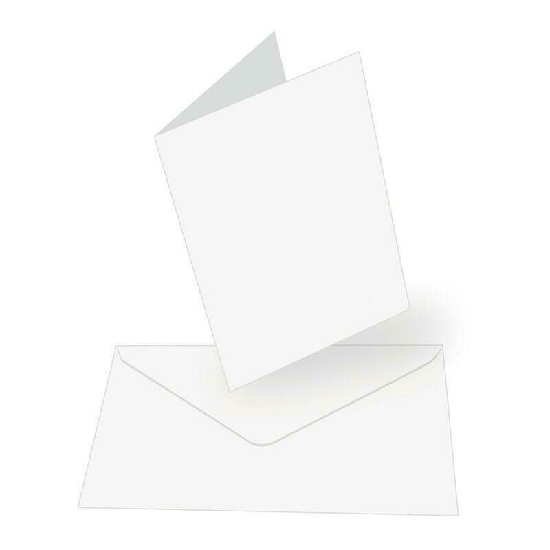 A6 Card + envelope set - White (50 pack)