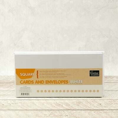 Square Card + envelope set - White (50 pack)