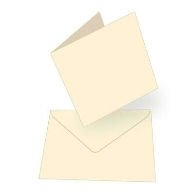 Square Card + envelope set - Cream (50 pack)