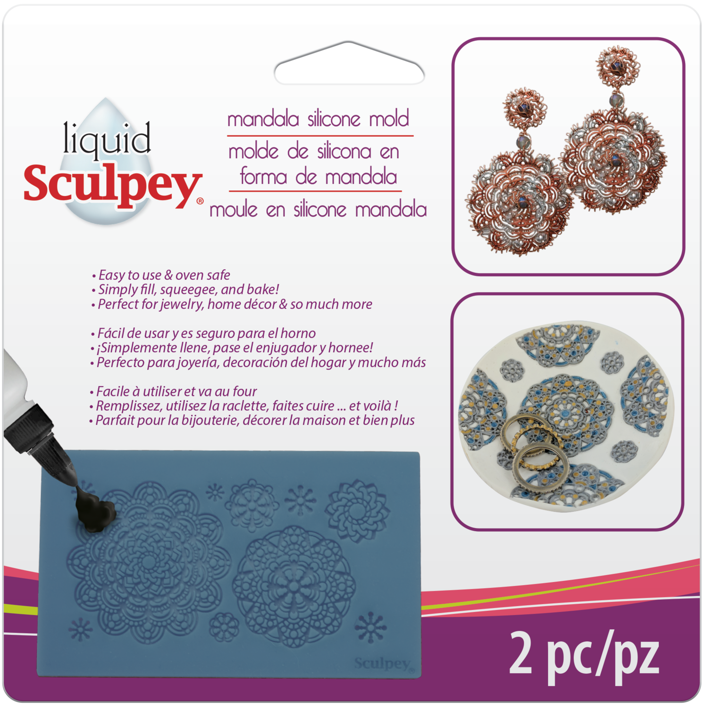 Sculpey® Silicone Bakeable Mold – Mandala