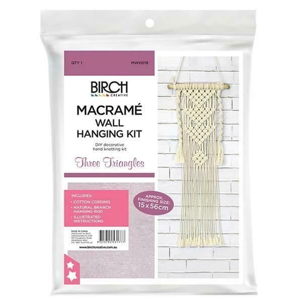 Macrame Wall Hanging Kit - Three Triangles