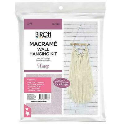 Macrame Wall Hanging Kit - Fringe