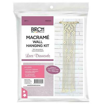 Macrame Wall Hanging Kit - Lace Diamonds