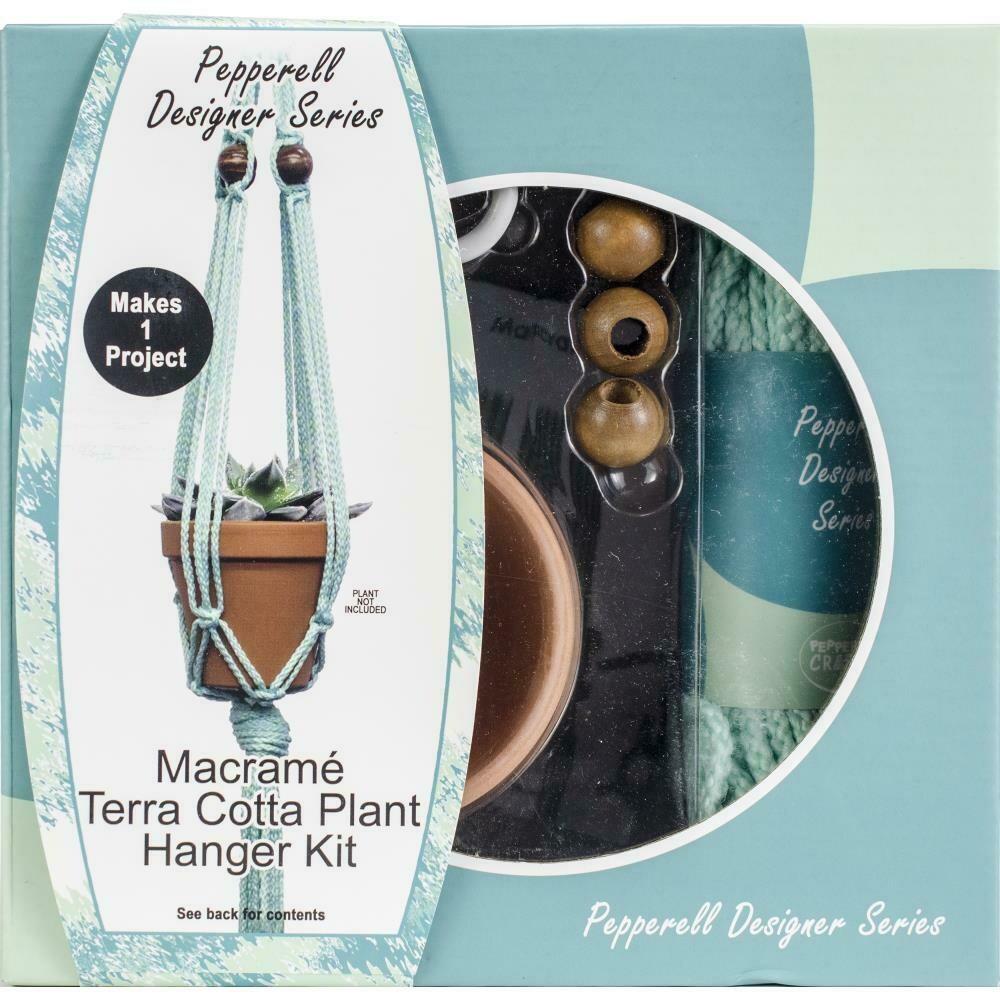 Pepperell Designer Macrame Plant Hanger Kit - Terracotta