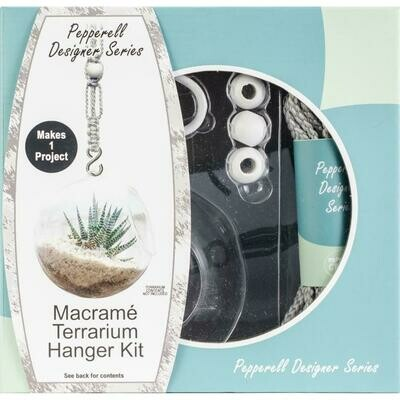 Pepperell Designer Macrame Hanging Terrarium Kit