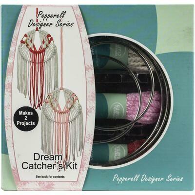 Pepperell Designer Macrame Modern Dream Catchers Kit