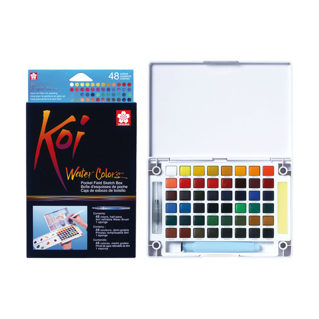Koi Watercolour Field Box - 48 Assorted