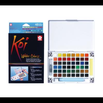 Koi Watercolour Field Box - 48 Assorted