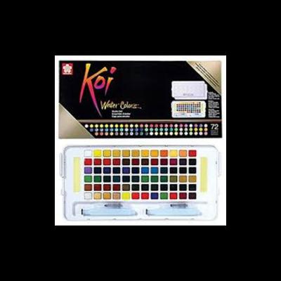 Koi Watercolour Field Box - 72 Assorted
