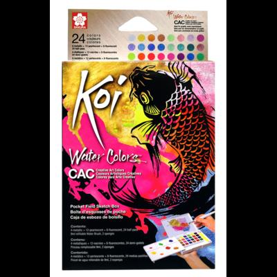 Koi Creative Art Watercolour Field Box - 24 Assorted