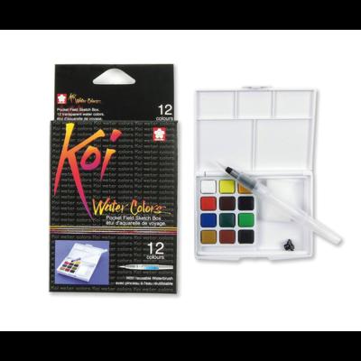 Koi Watercolour Field Box - 12 Assorted