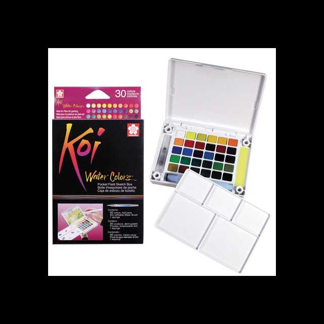 Koi Watercolour Field Box - 30 Assorted