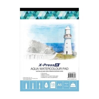 X-Press It Aqua Watercolour Pad - 200gsm A5